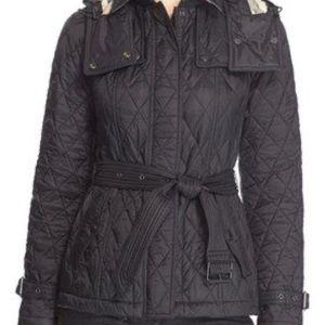 Burberry Short Finsbridge size M black jacket  new